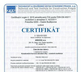 Certificate ISO 3834