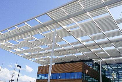 Ocelová konstrukce stínění Canopy - Laserové centrum ELI, Dolní Břežany