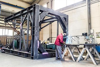 Ocelová konstrukce pod silo