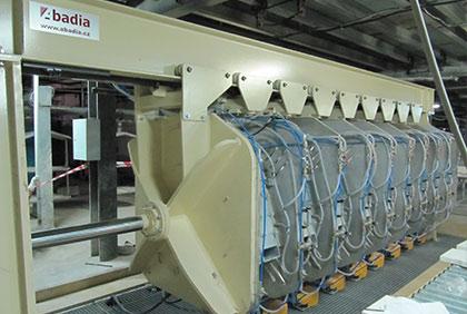 Rám linky na výrobu sanitární keramiky
