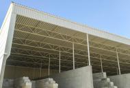 zastřešení skladové haly v betonárce