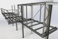 Dodali jsme více než 360 tun ocelových konstrukcí.